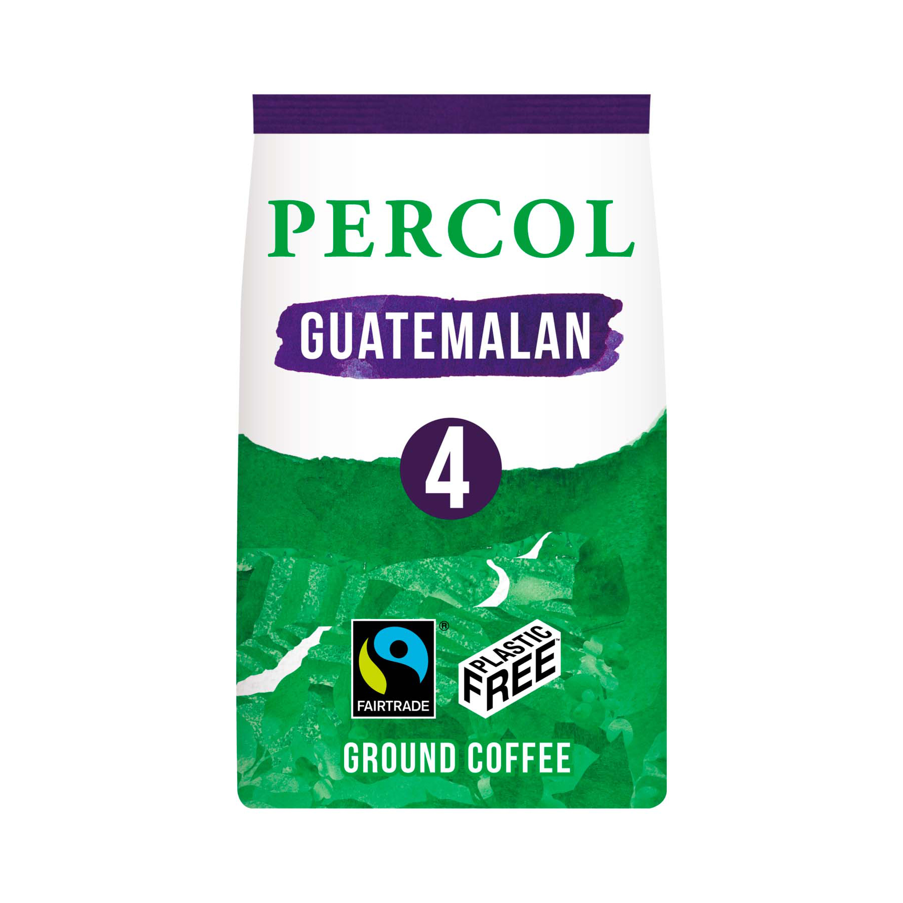 Coffee Percol Fairtrade Guatemala Ground Coffee Medium Roasted Plastic Free 200g Ref 0403272