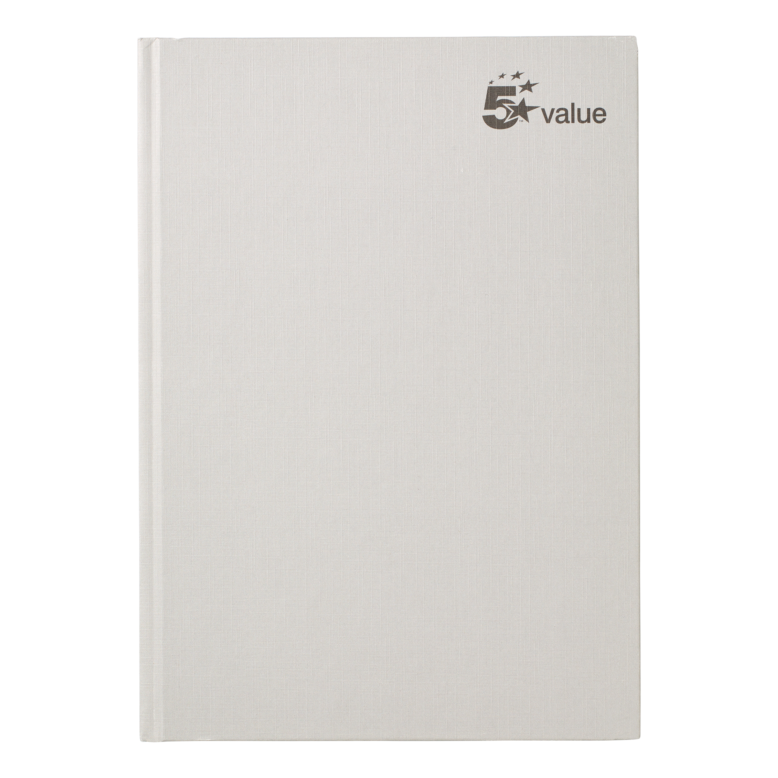 5 Star Value Casebound Notebook 70gsm Ruled 192pp A4 Pack 5