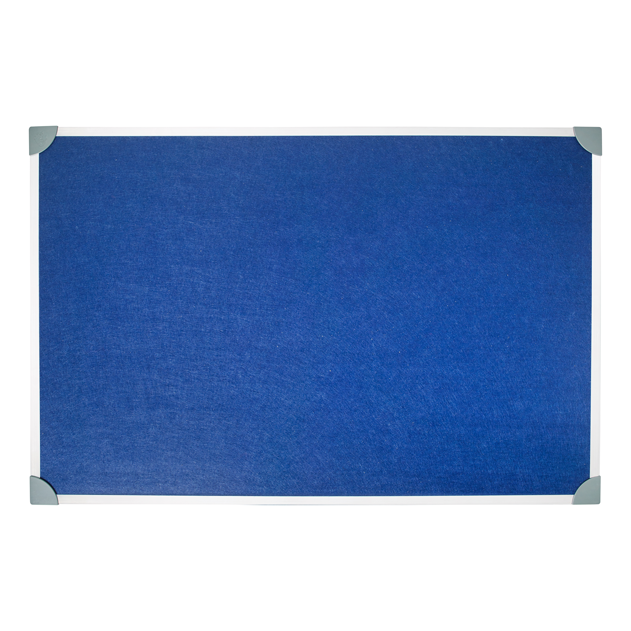 Felt 5 Star Office Felt Noticeboard with Fixings and Aluminium Trim W900xH600mm Blue