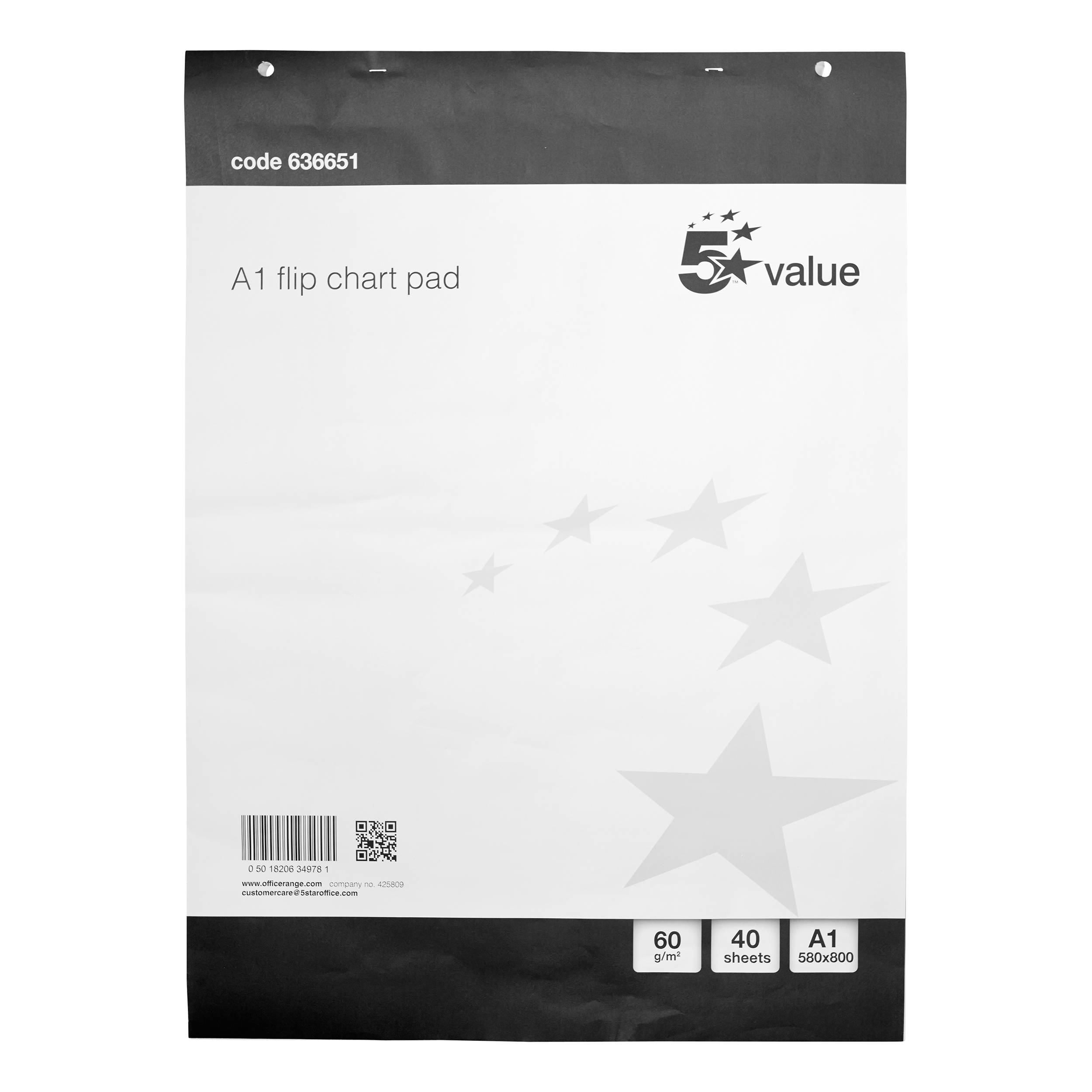 Flip chart 5 Star Value Flipchart Pad Perforated 40 Sheets A1 Pack 5
