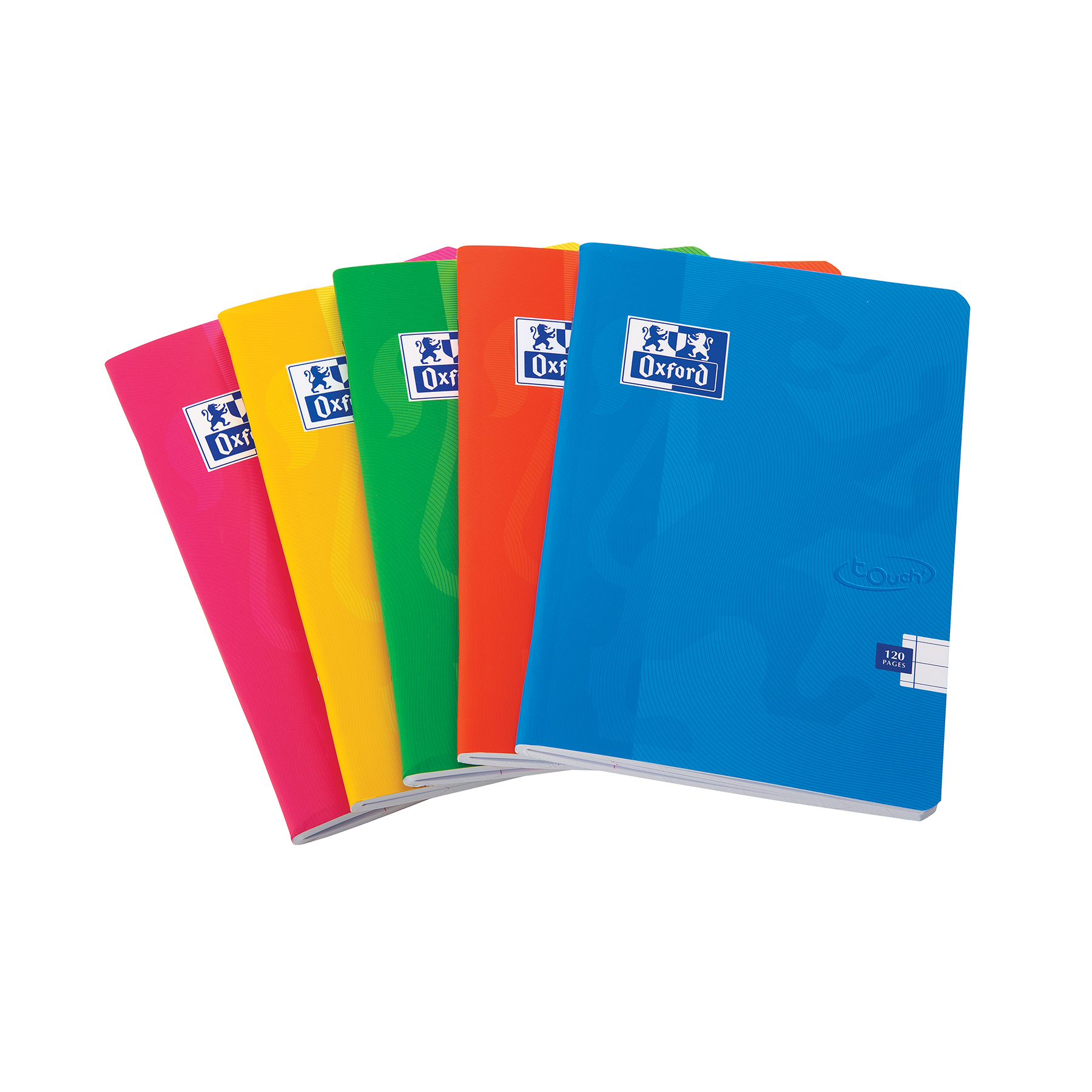 Exercise Books Oxford Soft Touch Stapled A5 Assorted Colours Ref 400090116 Pack 5
