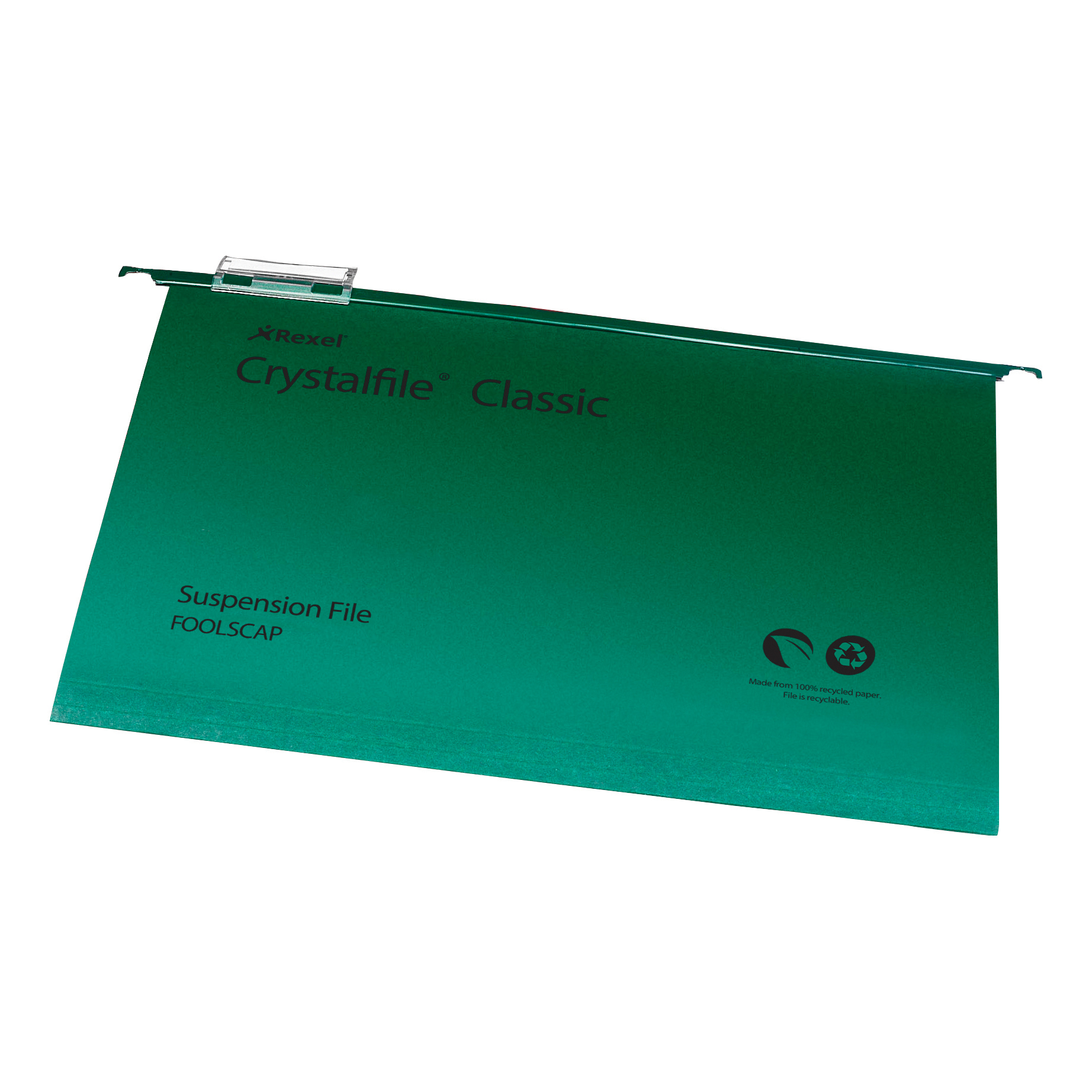 Suspension File Rexel Crystalfile Classic Suspension File Manilla V-base Foolscap Green Ref 78046 Pack 50
