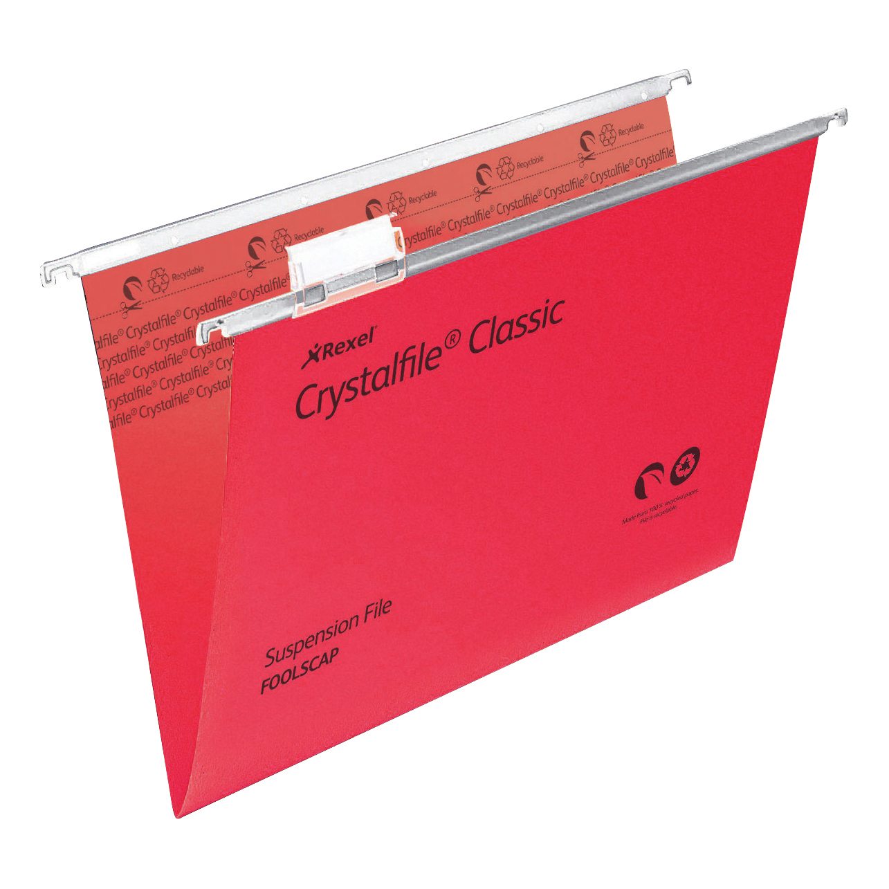 Suspension File Rexel Crystalfile Classic Suspension File Manilla V-base Foolscap Red Ref 78141 Pack 50