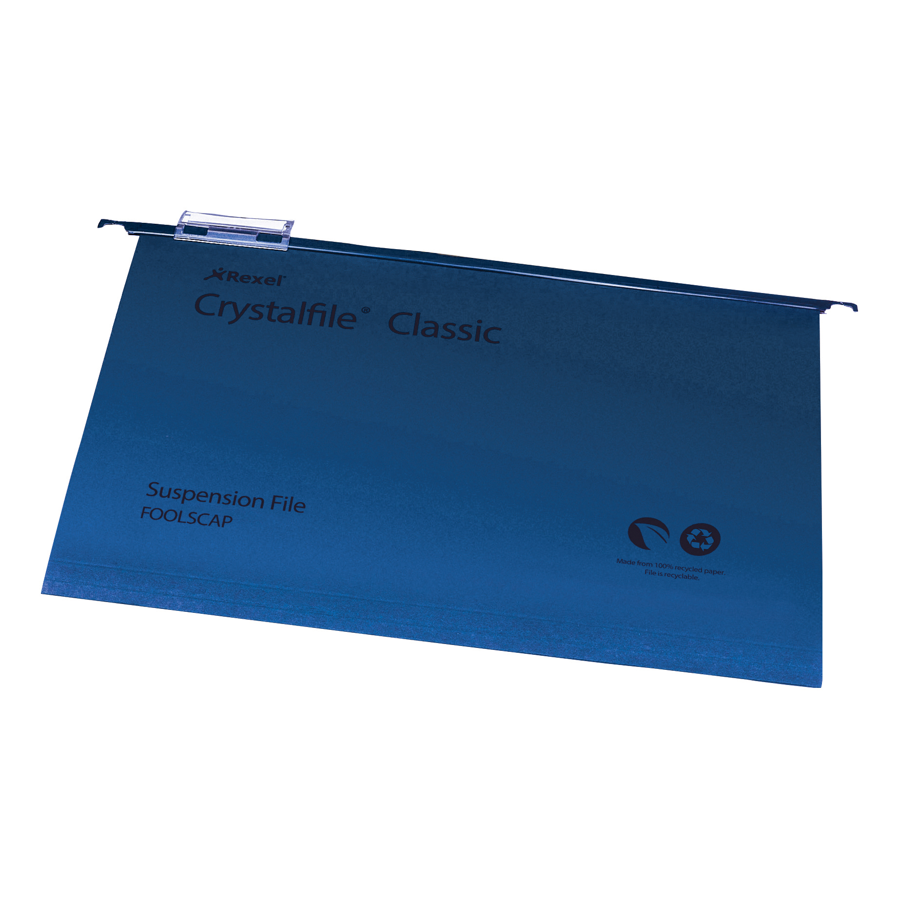Suspension File Rexel Crystalfile Classic Suspension File Manilla V-base Foolscap Blue Ref 78143 Pack 50