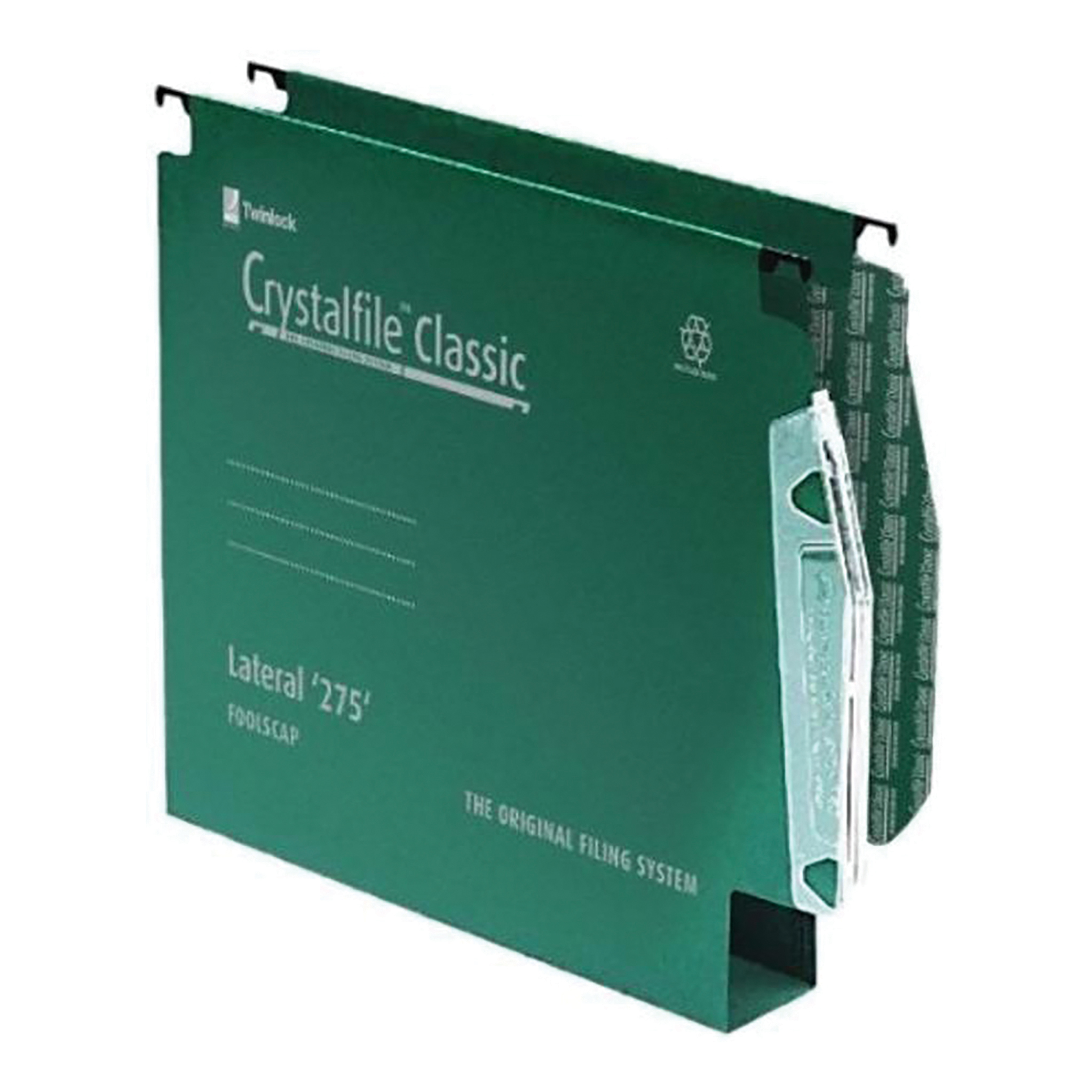 Lateral Files Rexel Crystalfile Classic Linking Lateral File Manilla 30mm Wide-base Green 230gsm A4 Ref 78654 Pack 50