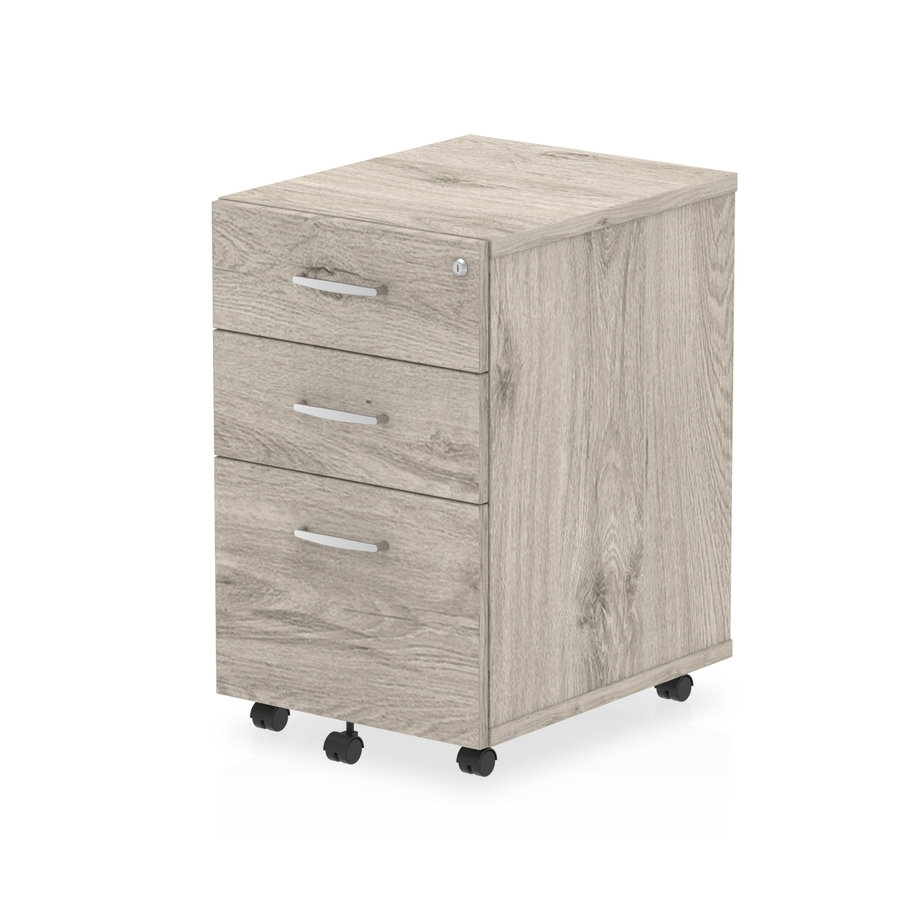 Pedestals Trexus Tall Under Desk Mobile Pedestal 440x550x695mm Grey Oak Ref I003226