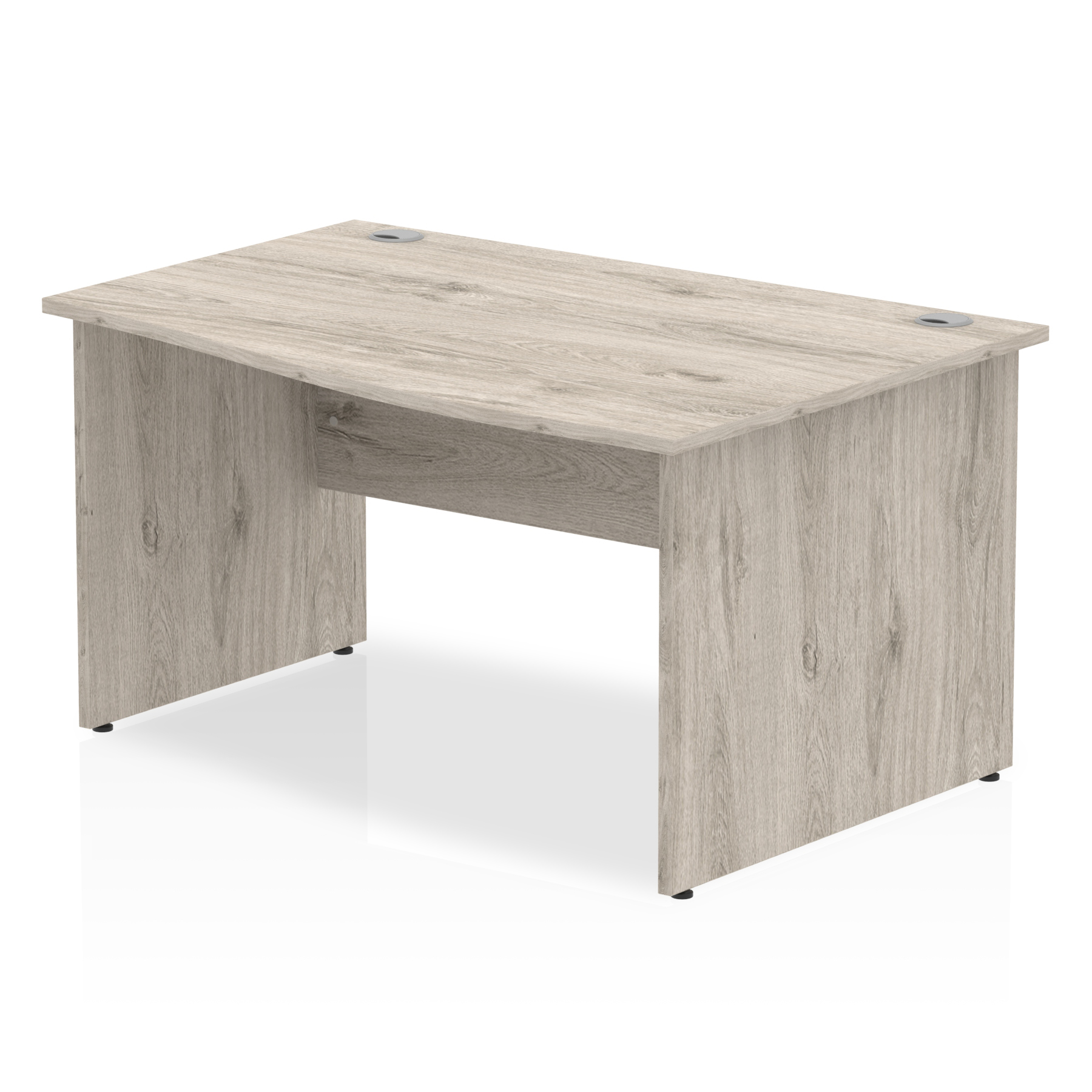 Trexus Wave Desk Right Hand Panel Leg 1400x1000/800x730mm Grey Oak Ref I003125