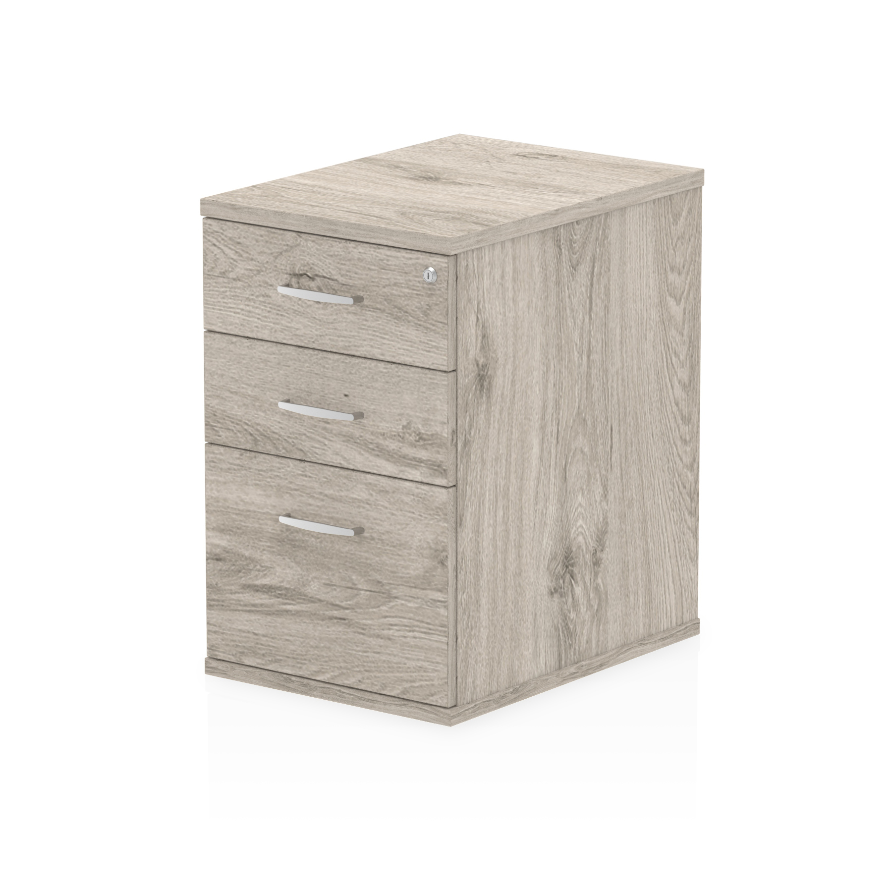 Pedestals Trexus Desk High 3 Drawer 600D Pedestal 425x600x730mm Grey Oak Ref I003221