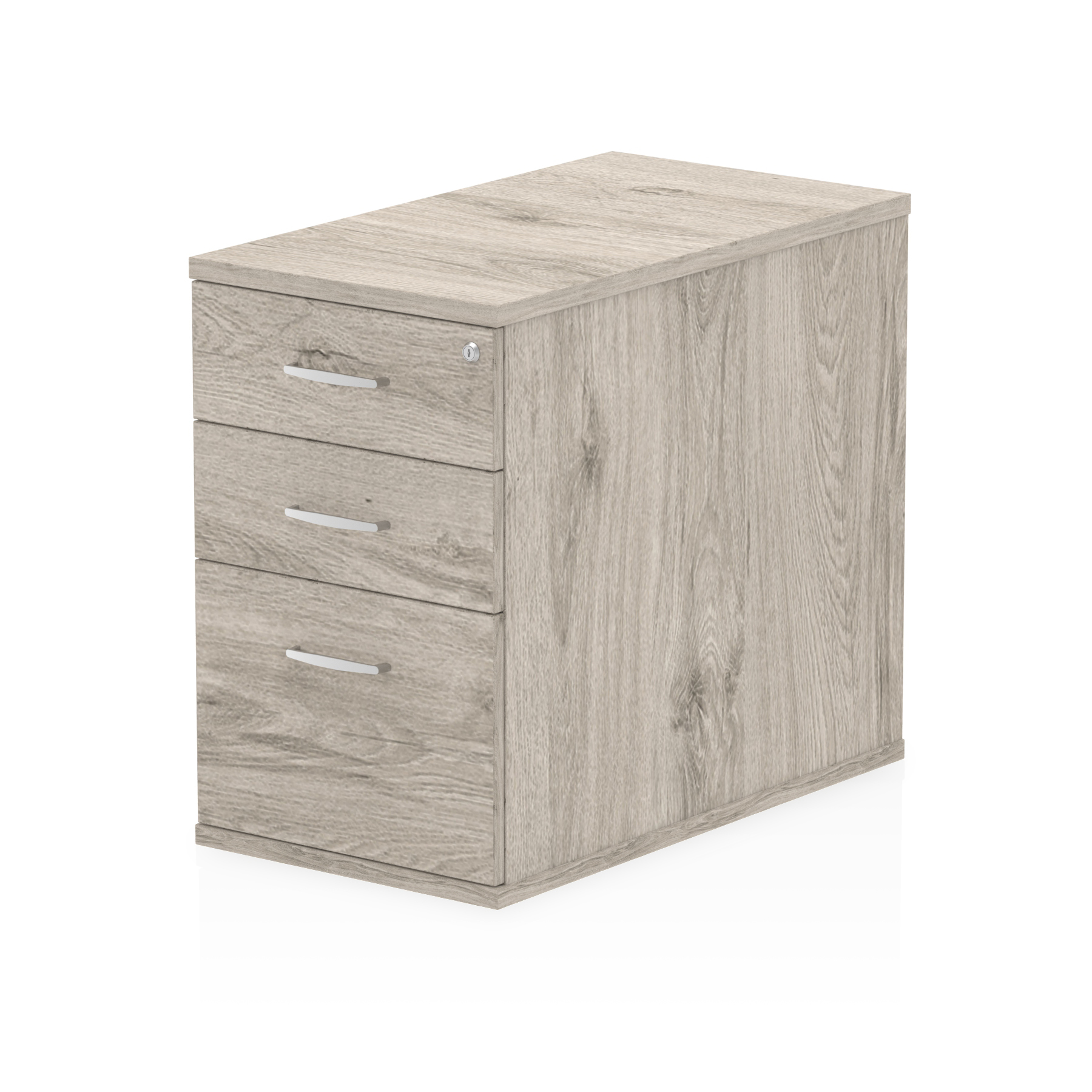 Pedestals Trexus Desk High 3 Drawer 800D Pedestal 425x800x730mm Grey Oak Ref I003222