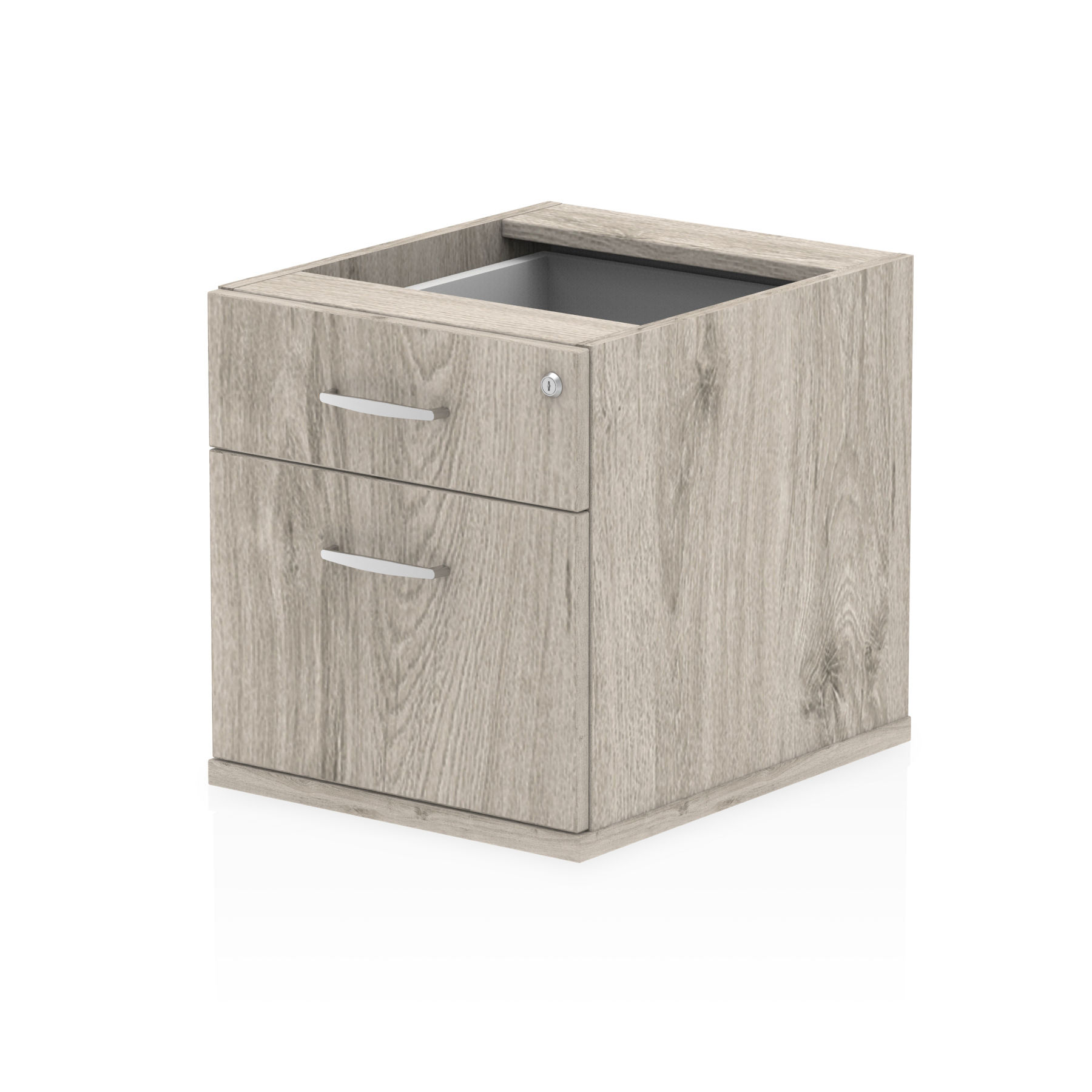 Trexus 2 Drawer Fixed Pedestal 426x463x480mm Grey Oak Ref I003219