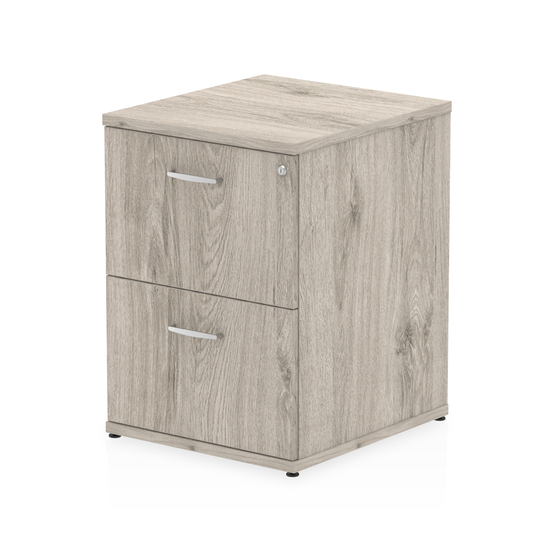 Filing cabinets or accesories Trexus 2 Drawer Filing Cabinet 500x600x800mm Grey Oak Ref I003241