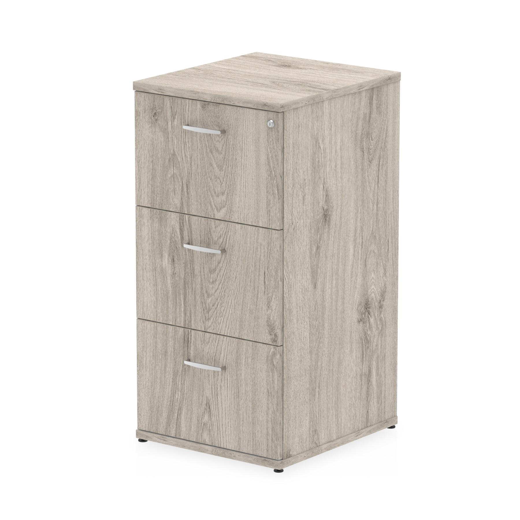 Trexus 3 Drawer Filing Cabinet 500x600x1125mm Grey Oak Ref I003242