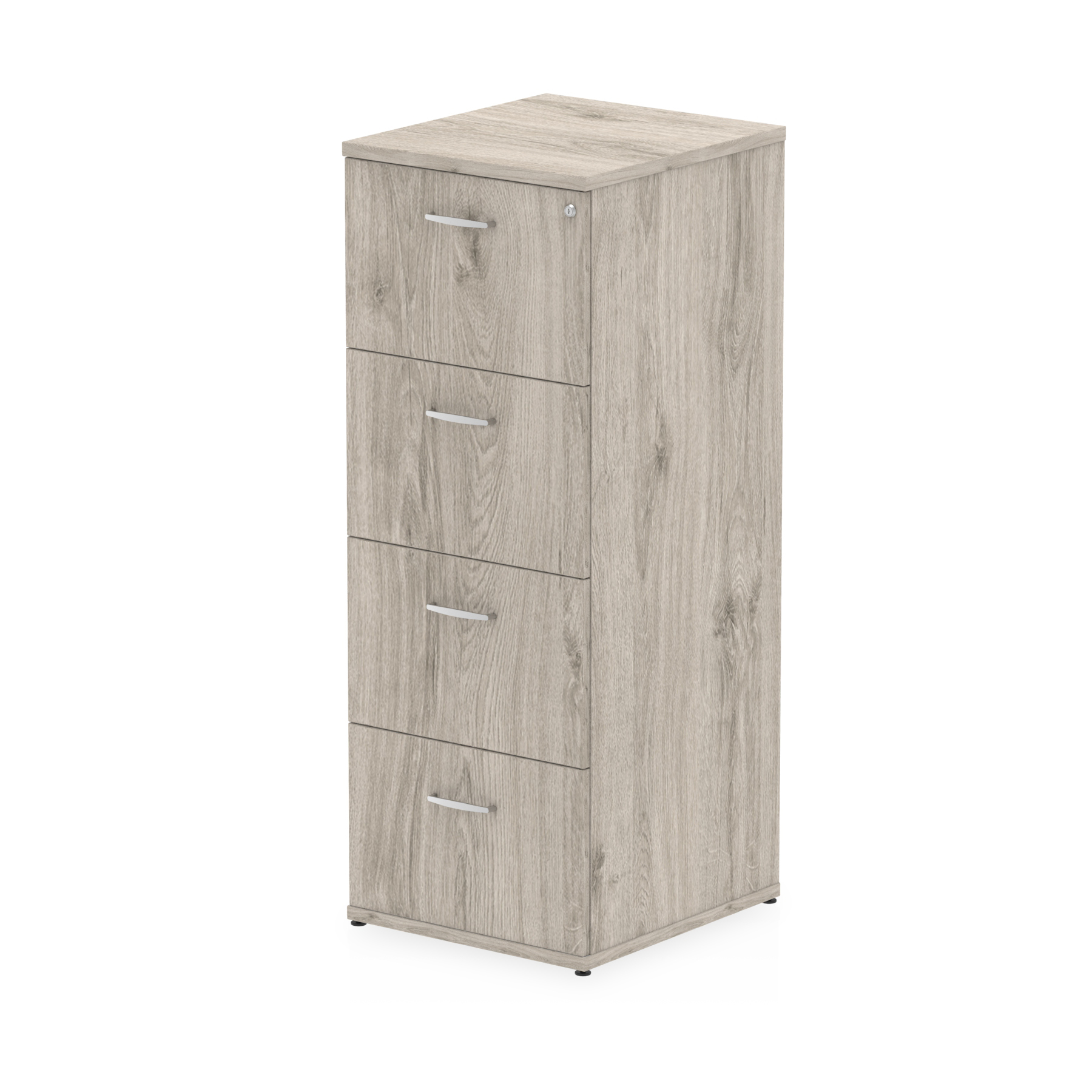 Filing cabinets or accesories Trexus 4 Drawer Filing Cabinet 500x600x1445mm Grey Oak Ref I003243
