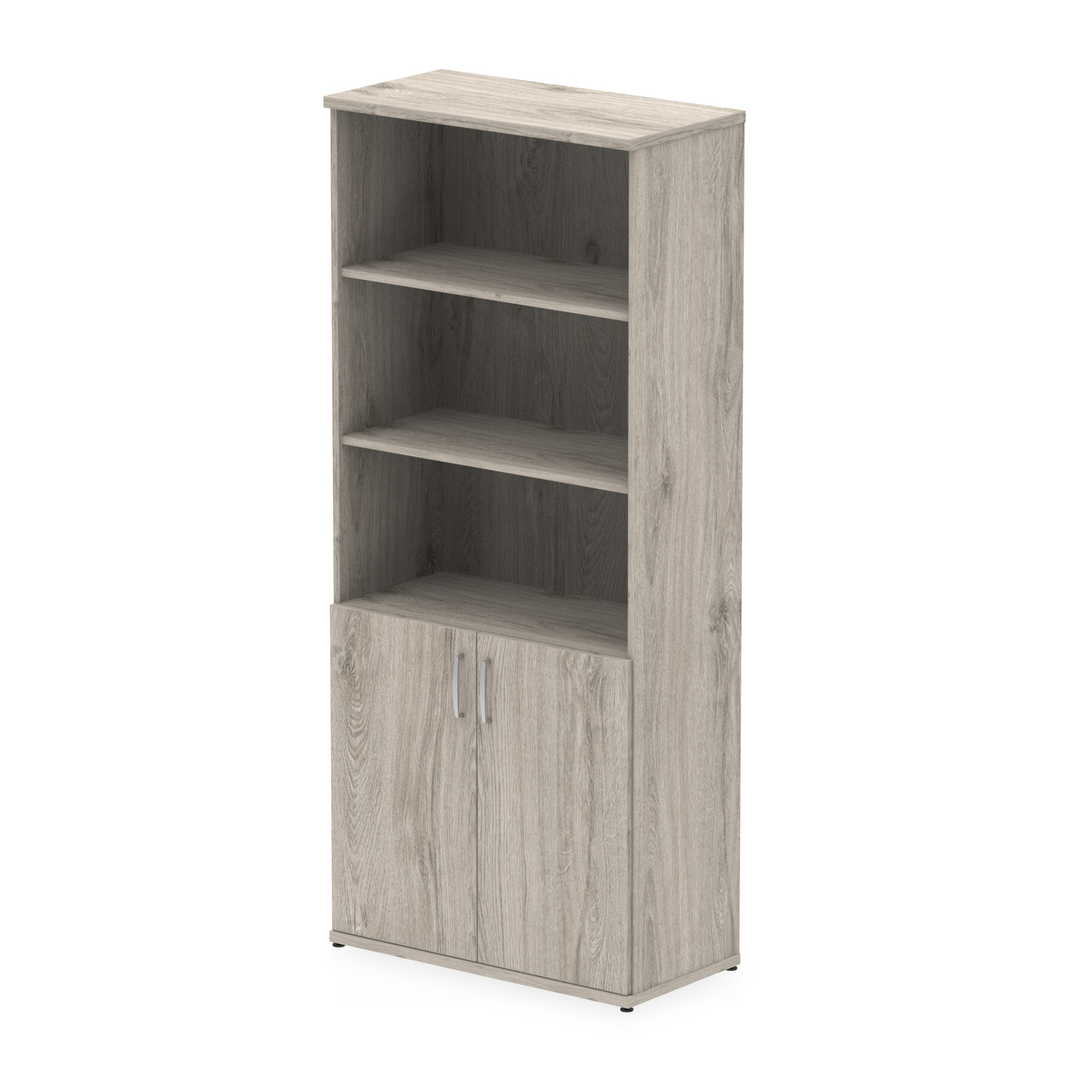 Storage cabinets Trexus Open Shelves Cupboard 800x400x2000mm Grey Oak