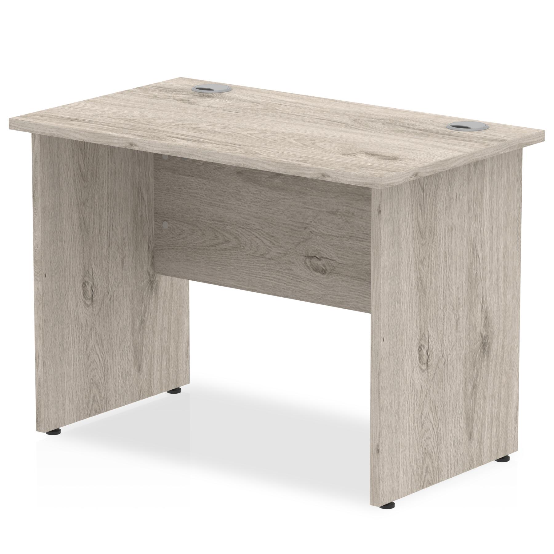 Trexus Slim Rectangular Desk Panel End Leg 1000x600mm Grey Oak Ref I003084