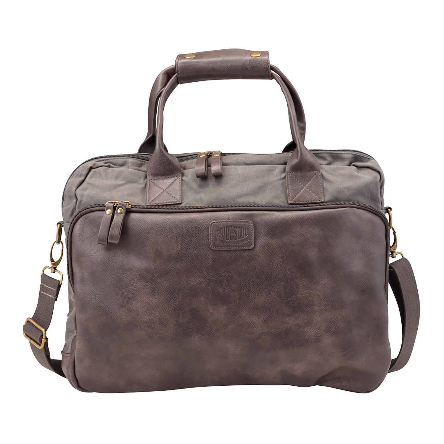 Bags & Cases Pride and Soul Mystify 15inch Laptop Bag Grey/Brown Ref 47302