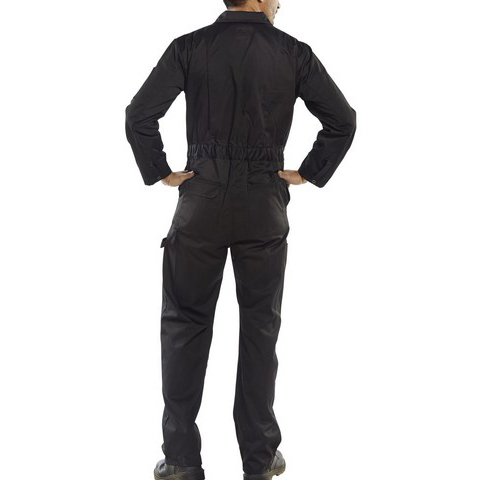 Super Click Workwear Heavy Weight Boilersuit Black 36 Ref PCBSHWBL36 Up to 3 Day Leadtime