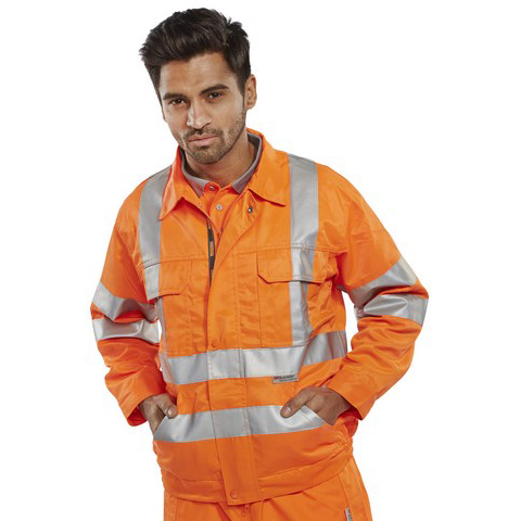 BSeen High Visibility Railspec Jacket 38in Orange Ref RSJ38 *Up to 3 Day Leadtime*