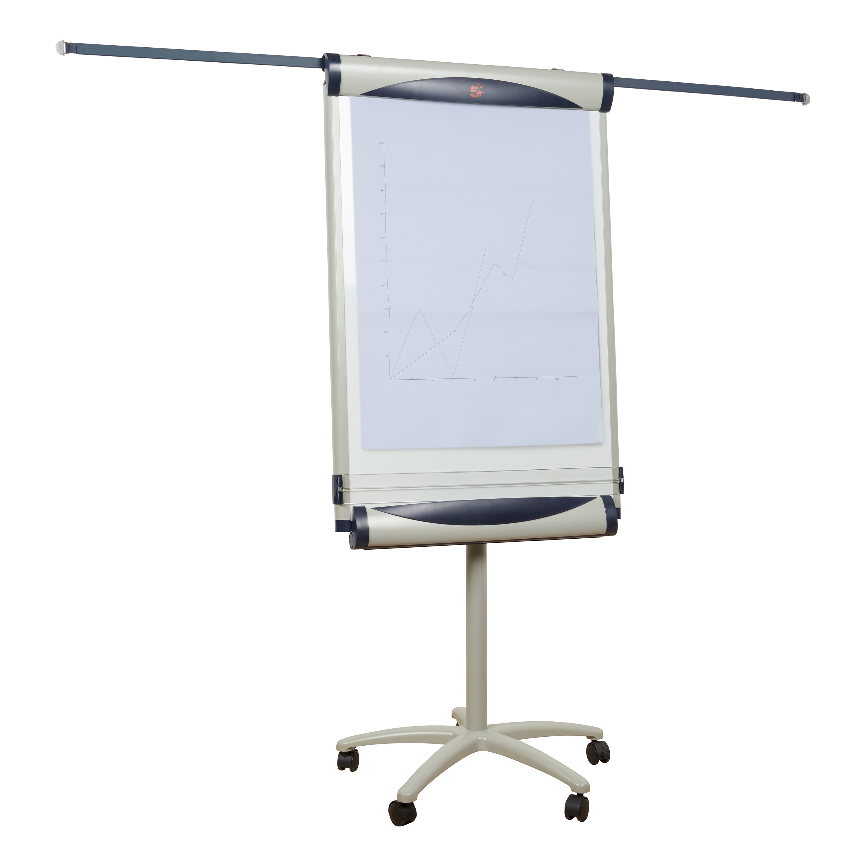5 Star Office Mobile Executive Easel Magnetic Mobile on 5 Castors for Pads A1 and Euro