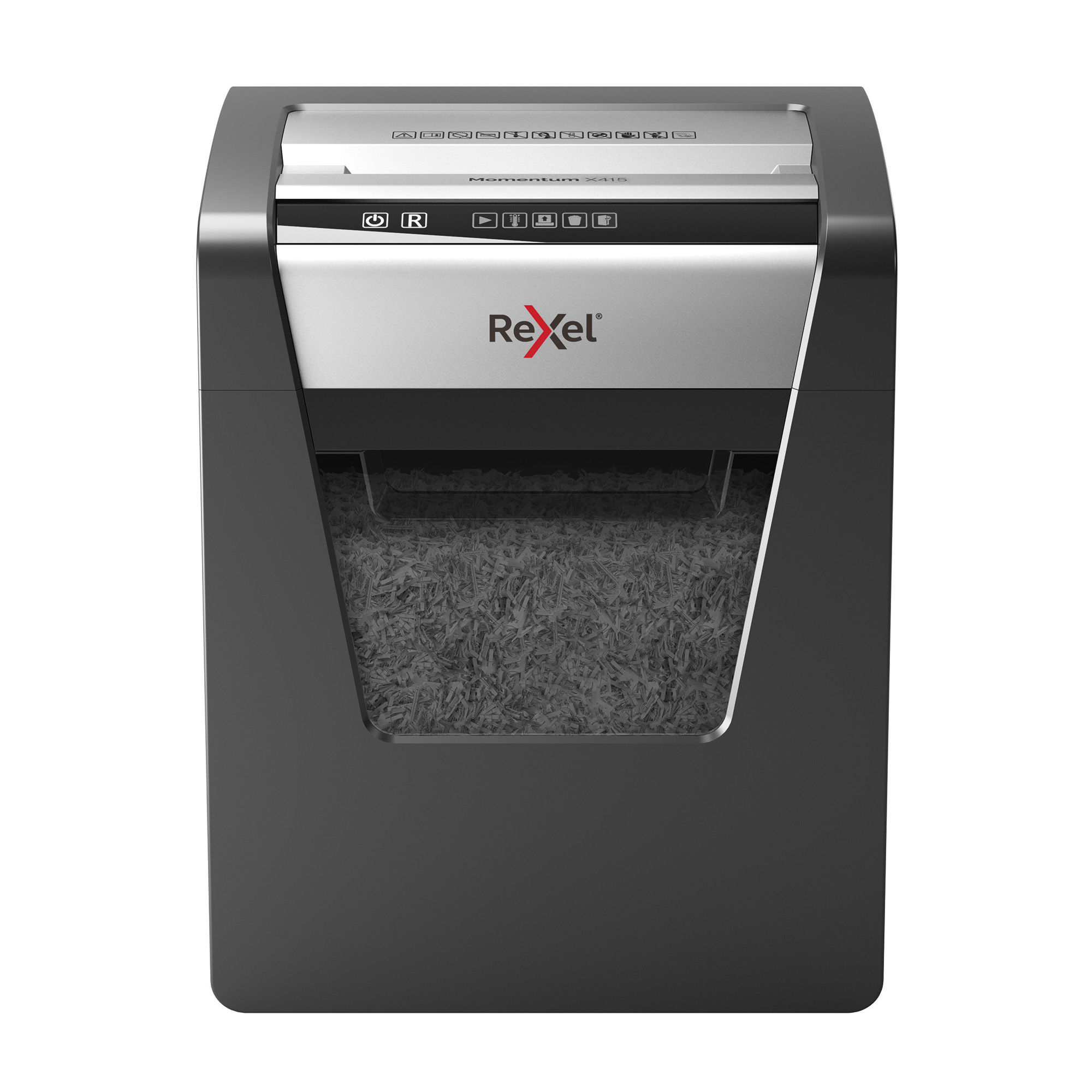 Shredders Rexel Momentum X415 CC Paper Shredder P4 Cross Cut 23L Anti-Jamming Ref 2104576