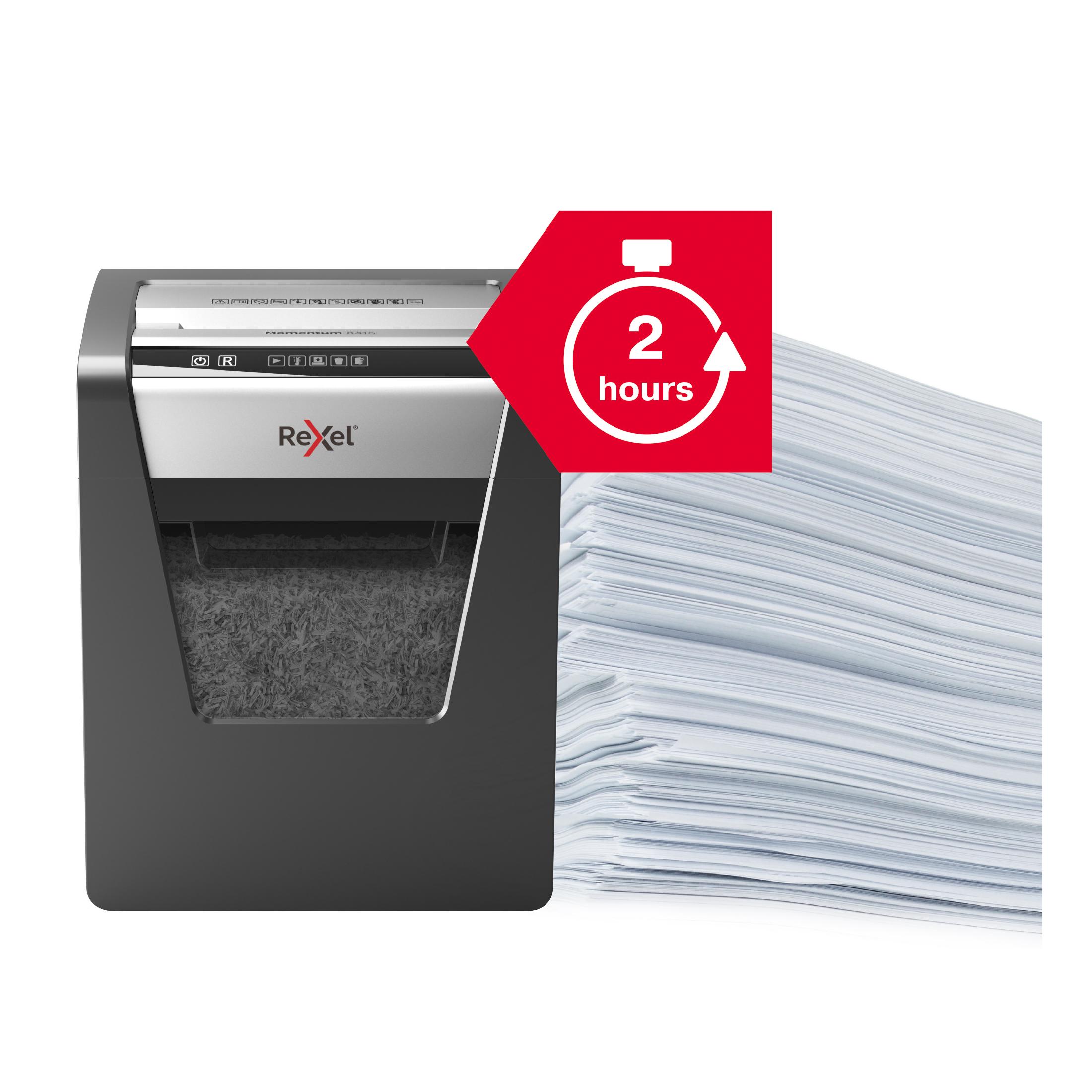 Rexel Momentum X415 CC Paper Shredder P4 Cross Cut 23L Anti-Jamming Ref 2104576 [REDEMPTION] Oct-Dec19