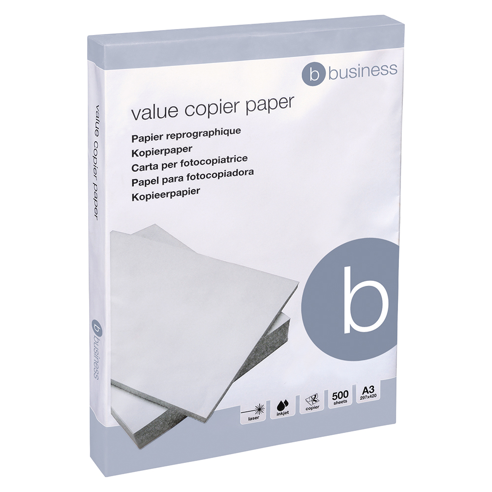 Business Copier Paper Multifunctional Ream-Wrapped A3 White [500 Sheets]