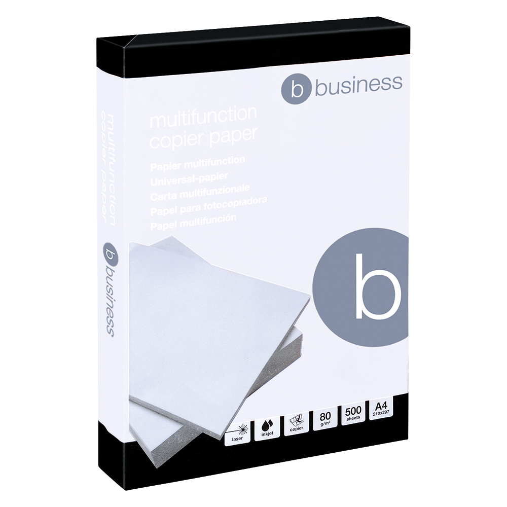 Business Copier Paper Multifunctional Ream-Wrapped 80gsm A4 White [5 x 500 Sheets]