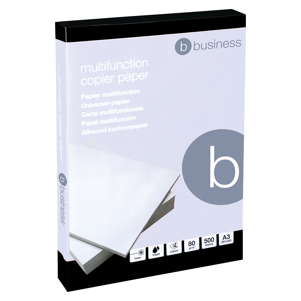 Business Copier Paper Multifunctional Ream-Wrapped 80gsm A3 White [500 Sheets]