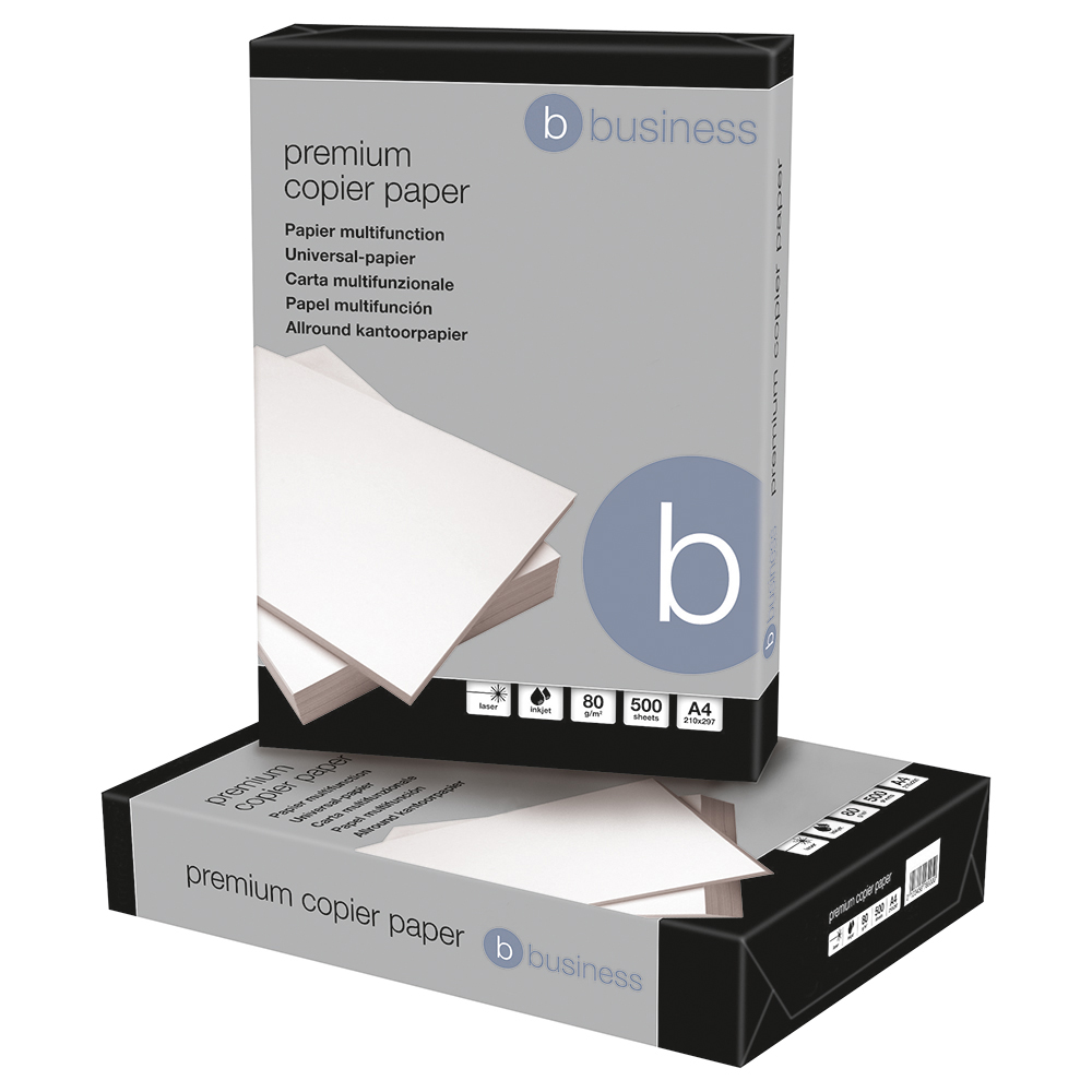 Business Premium Copier Paper Smooth Ream-Wrapped 80gsm A4 High White [500 Sheets]