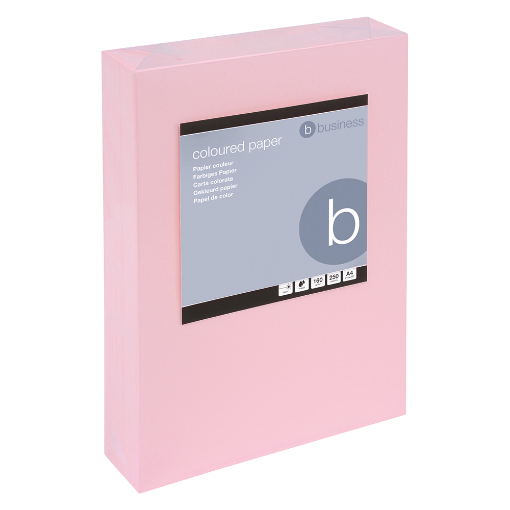 Business Coloured Card Multifunctional 160gsm A4 Light Pink [250 Sheets]