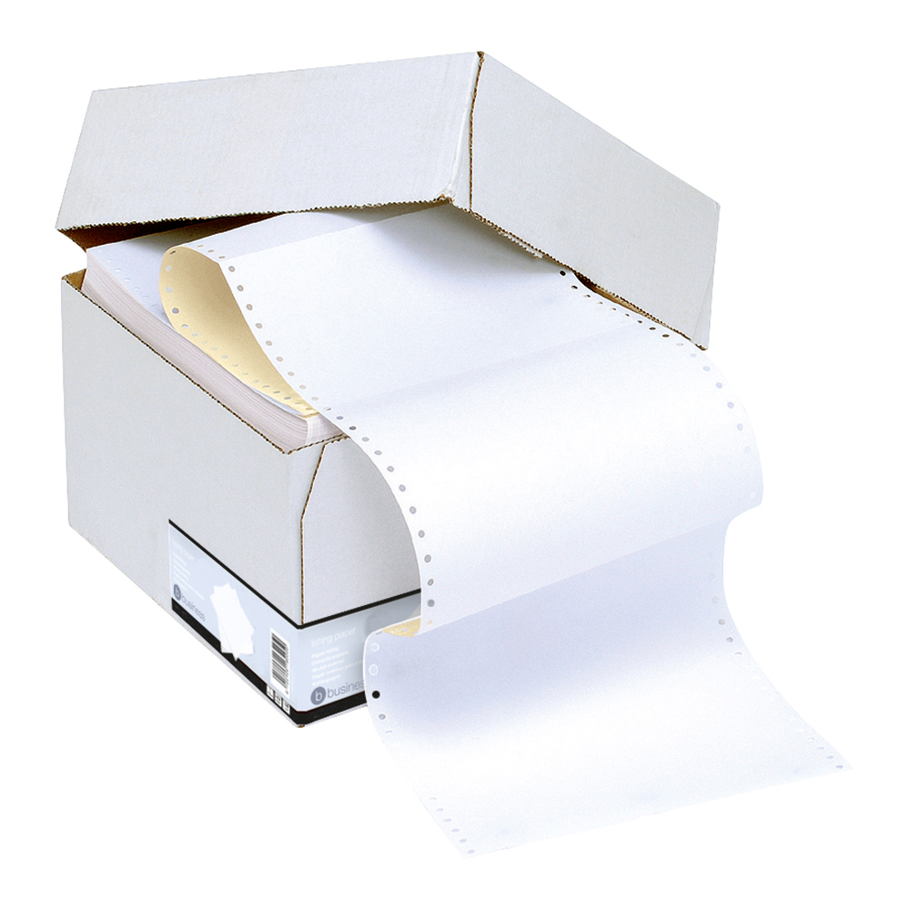 Business Listing Paper 2-Part Microperforated 80/55gsm Carbonless A4 White/Yellow [1000 Sheets]
