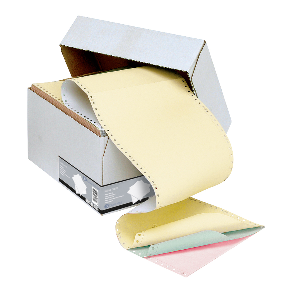 Business Listing Paper 4-Part Microperforated 80/50/50/55gsm Carbonless A4 4 Colours [500 Sheets]