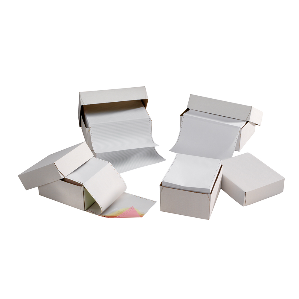 Business Listing Paper 1-Part Ruled 70gsm 11inchx368mm [2000 Sheets]
