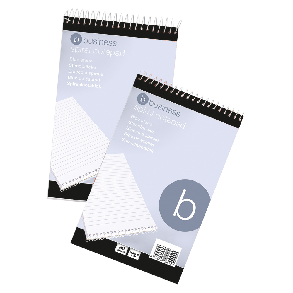 Business Spiral Notepad Headbound Ruled 160 Pages 127x200mm [Pack 10]