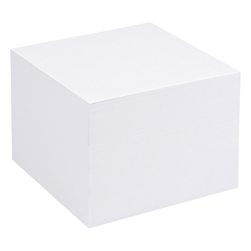 Business Refill Block for Noteholder Cube Approx. 750 Sheets of Paper 90x90mm White