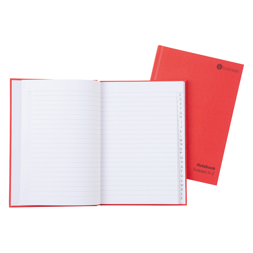 Business Manuscript Book Casebound Ruled and Indexed 192 Pages A4 [Pack 5]