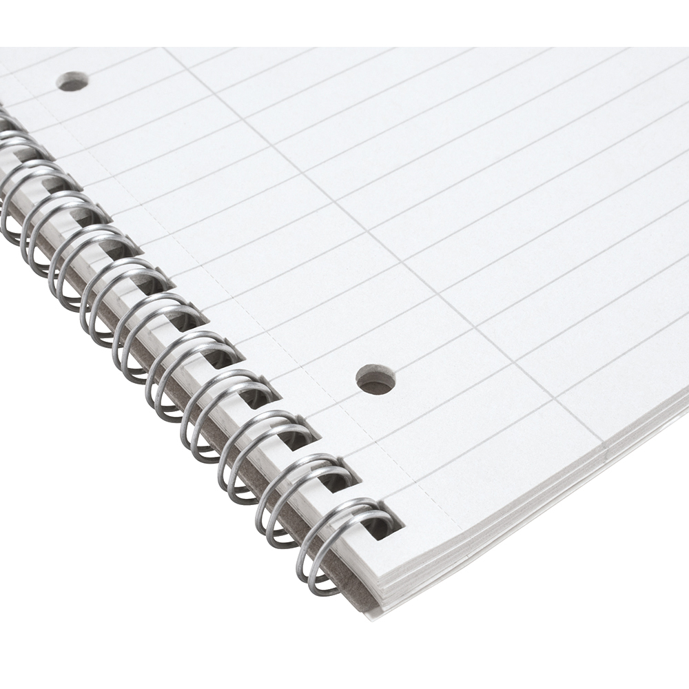 Business Eco Spiral Pad Punched 4 Holes Ruled A4 [Pack 10]
