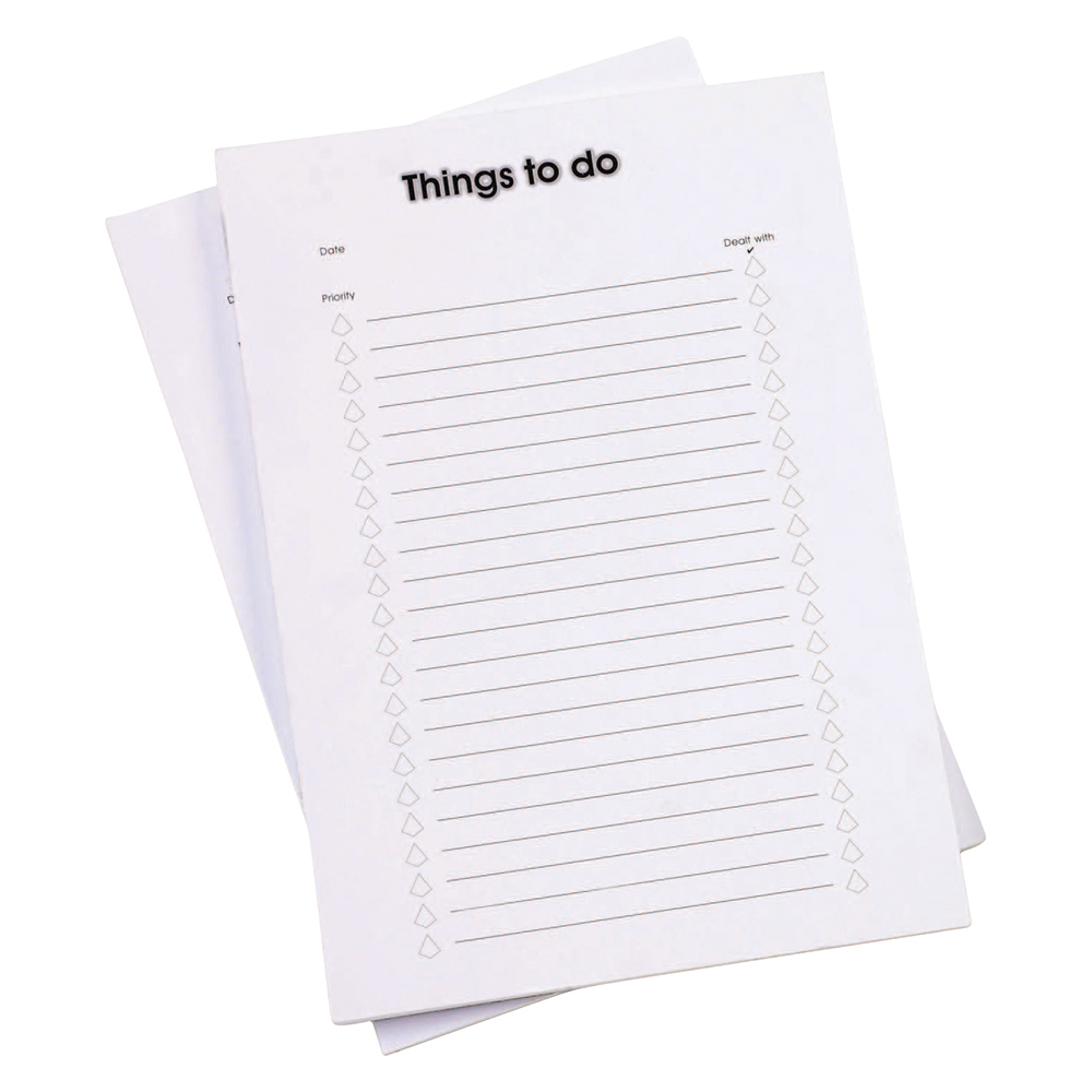 Business Things To Do Today Pad A4 50pp