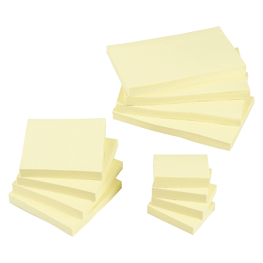 Business Re-Move Notes Repositionable Pad of 100 Sheets 76x127mm Yellow [Pack 12]