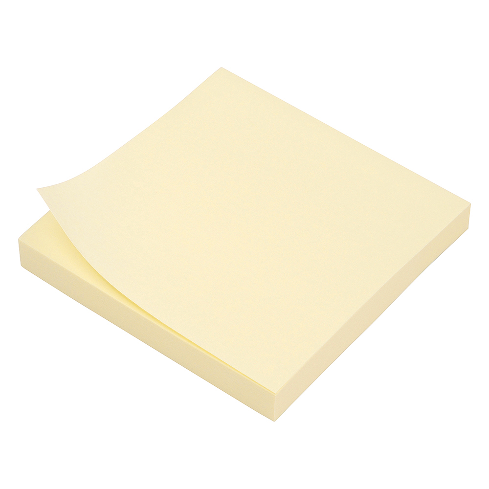Business Extra Sticky Re-Move Notes Pad of 90 Sheets 76x76mm Yellow [Pack 12]