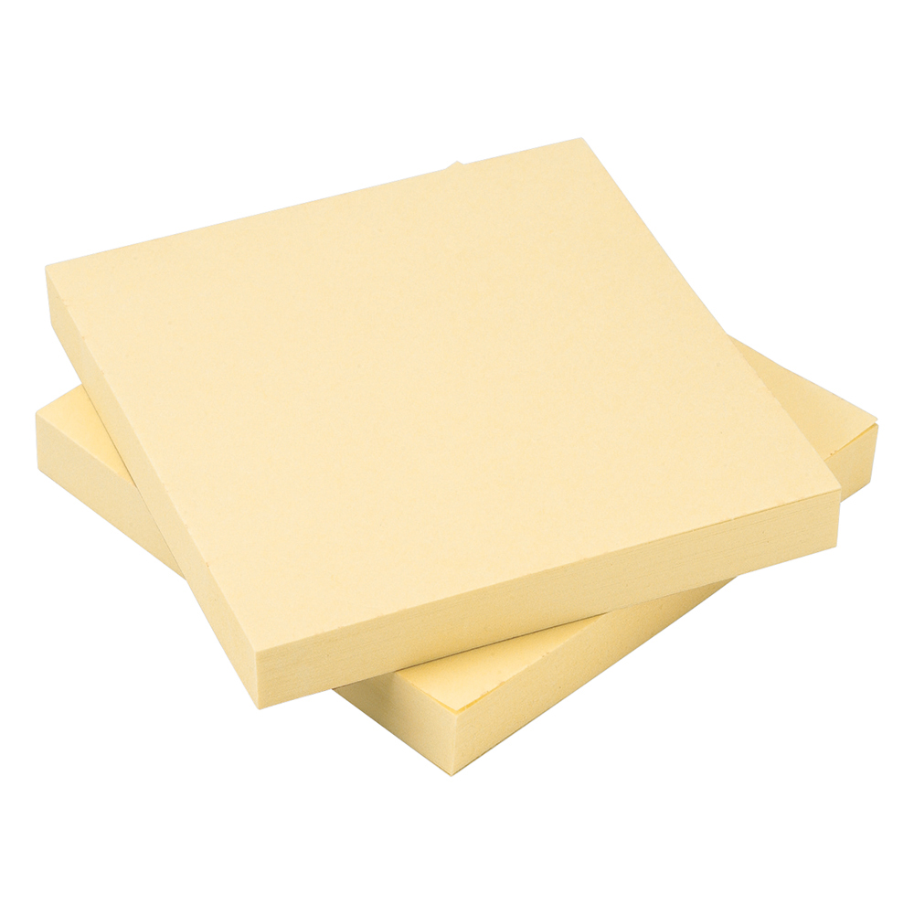 Business Re-Move Notes Concertina Pad of 100 Sheets 76x76mm Yellow [Pack 12]