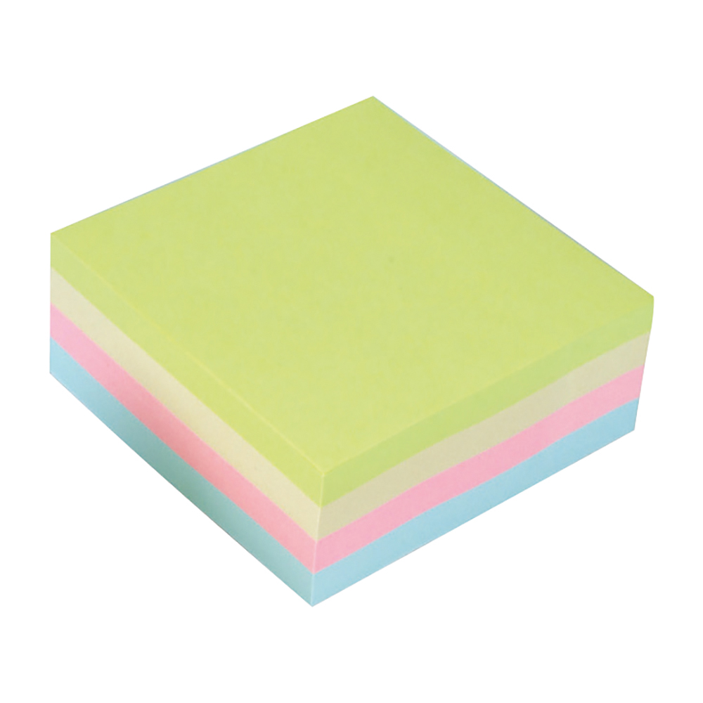 Business Re-Move Notes Cube Pad of 400 Sheets 76x76mm Pastel Rainbow