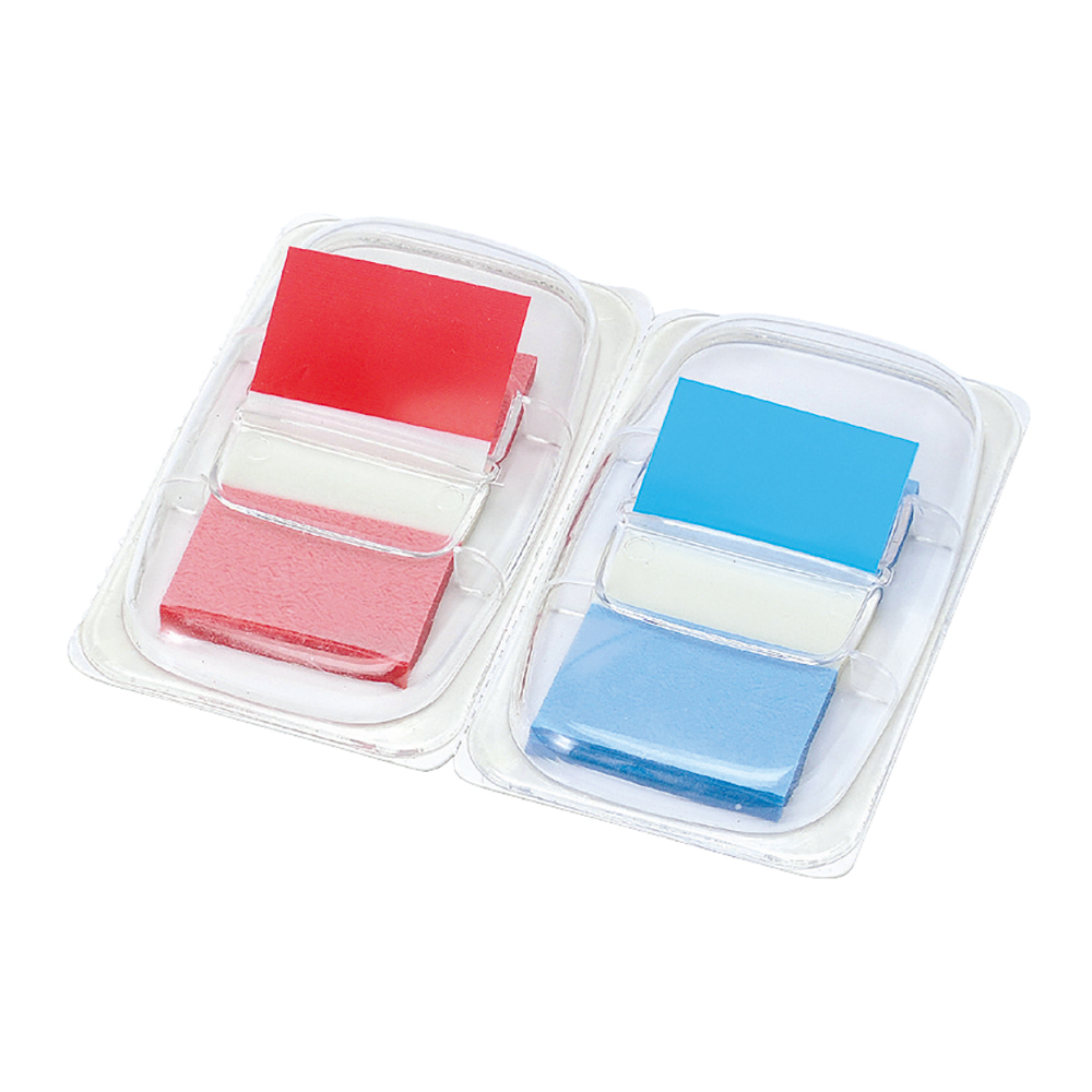 Business Index Flags 50 per Pack 25mm Red and Blue [Pack 2]