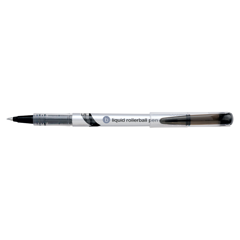 Business Premium Rollerball Pen Liquid Fine 0.7mm Tip 0.5mm Line Black [Pack 12]