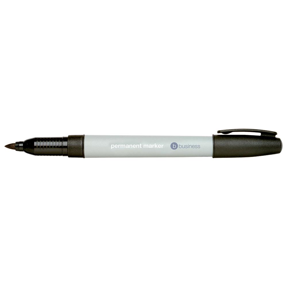 Business Permanent Marker Fine 0.8mm Line Black [Pack 10]