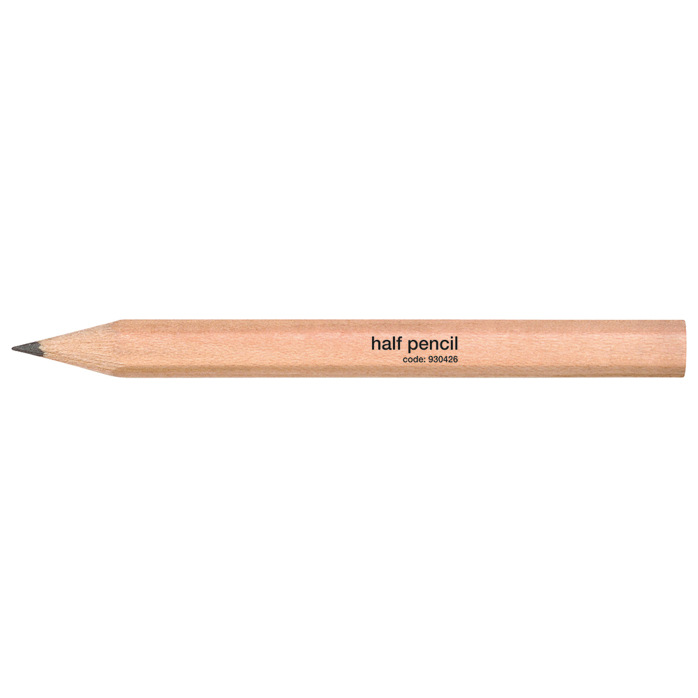 Business Half Pencil Wooden Half Length HB Plain [Pack 144]