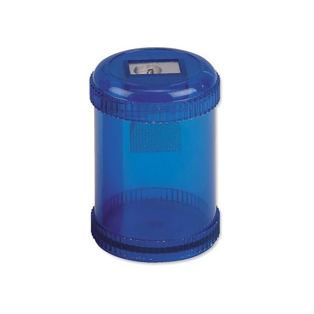 Business Pencil Sharpener Plastic Canister Max. Diameter 8mm Single Hole Coloured [Pack 10]