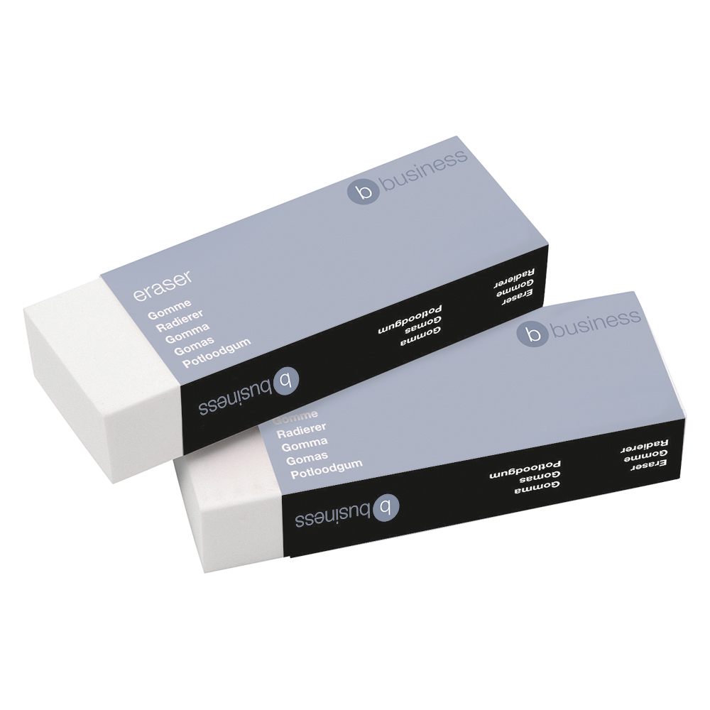 Business Plastic Eraser Paper-sleeved 60x21x12mm [Pack 10]