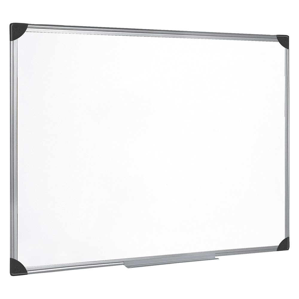 5 Star Office Whiteboard Drywipe Magnetic with Pen Tray and Aluminium Trim W900xH600mm