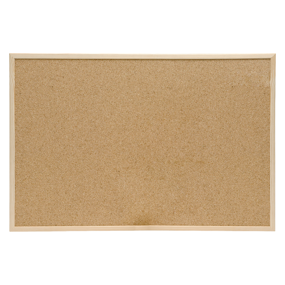 Business Eco Noticeboard Cork with Pine Frame W900xH600mm